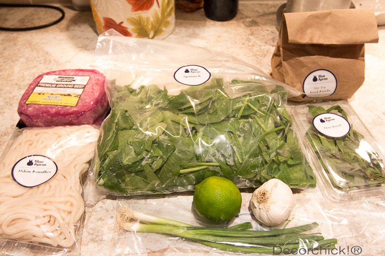 Blue Apron Meal Ingredients | Decorchick!®