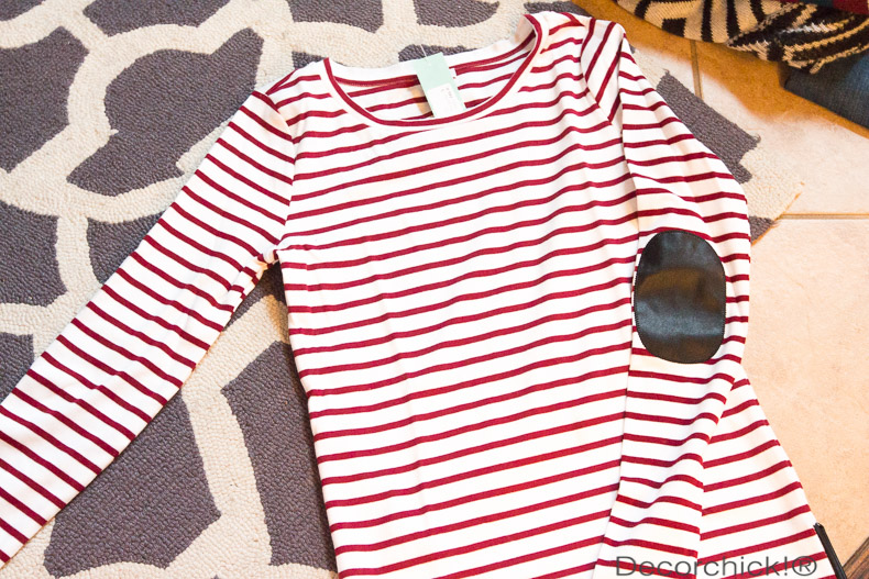Red and white stripe shirt | Decorchick!®