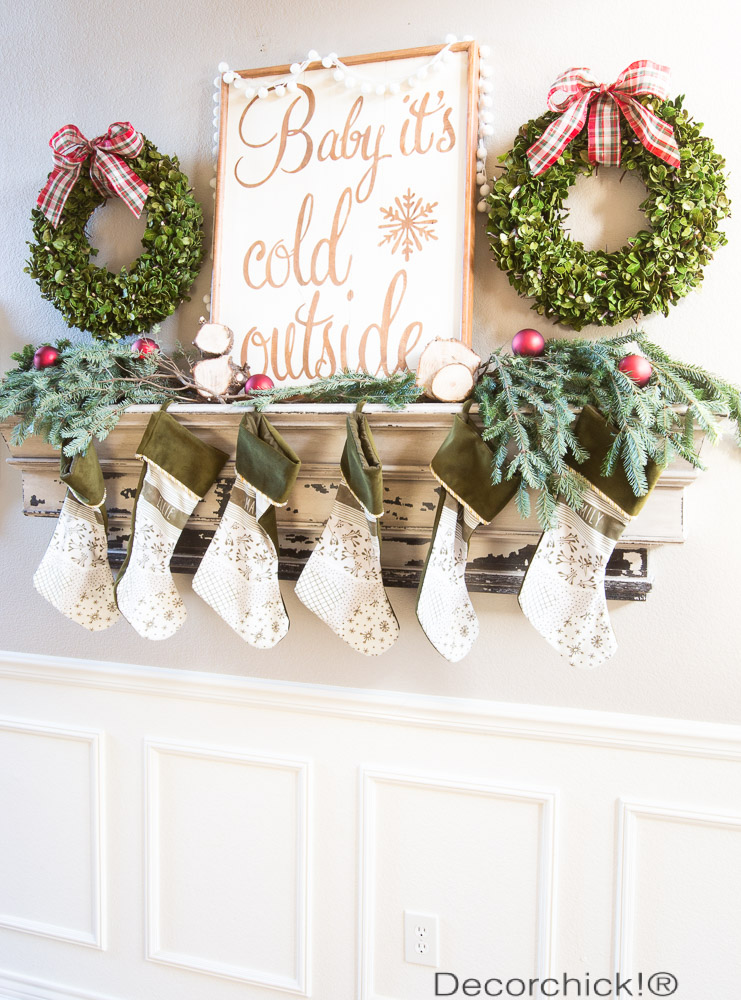 Christmas Mantel | Decorchick!®
