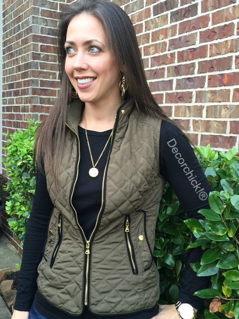 Green Quilted Vest | Decorchick!®