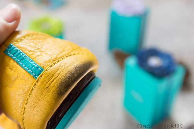 Scuff Mark on Tieks. Don't worry though--Use a baby wipe! | Decorchick!®