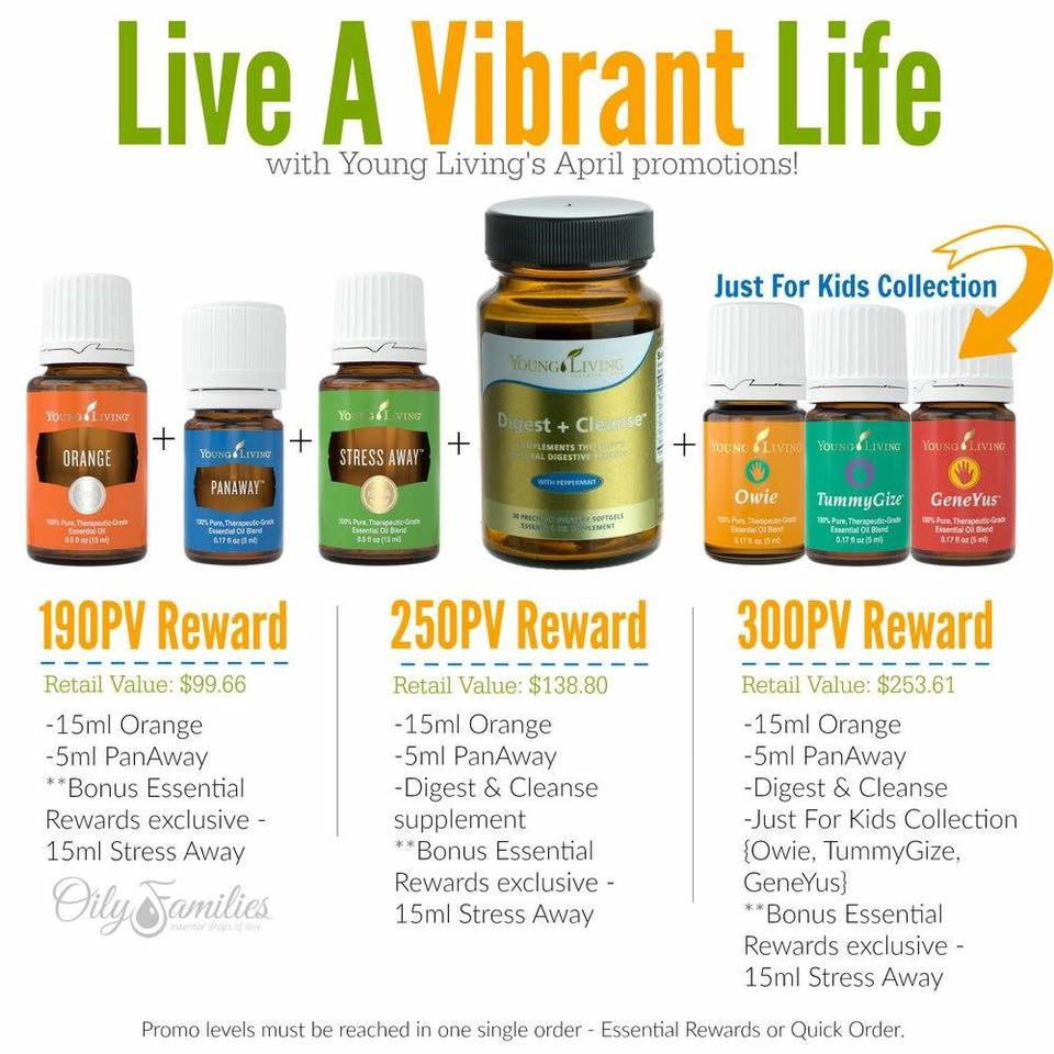 April Promotion from Young Living | Decorchick!®