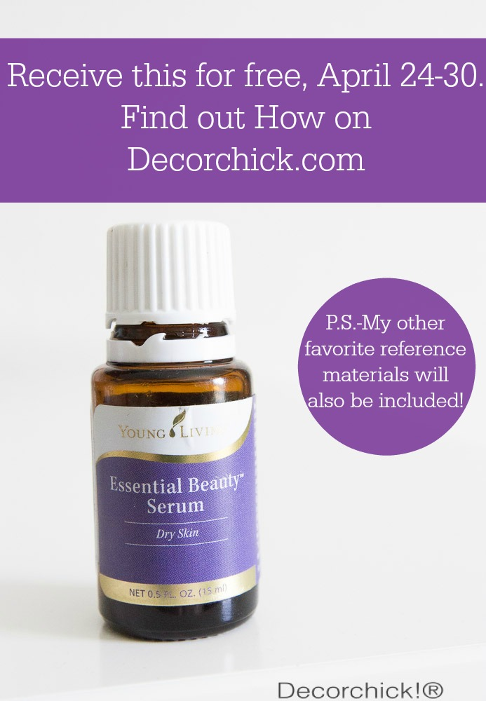 Receive this Bottle of Beauty Serum for FREE April 24-30, when you order your Premium Starter Kit. Reference Materials will also be included! | Only on Decorchick.com
