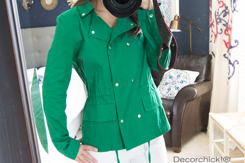Suva Cargo Jacket in Green | Decorchick!®