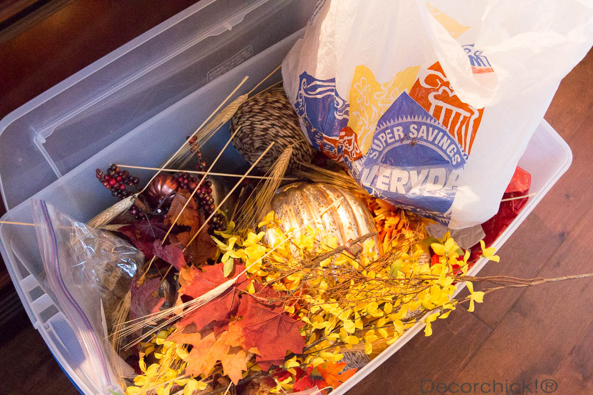 Fall Decoration Bin | Decorchick!®