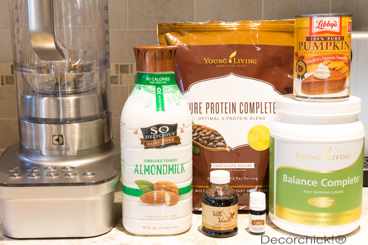 Chocolate Pumpkin Smoothie Ingredients | Decorchick!®