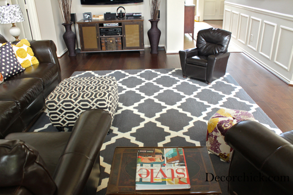 trellis rug living room our new living room rug decorchick 14727